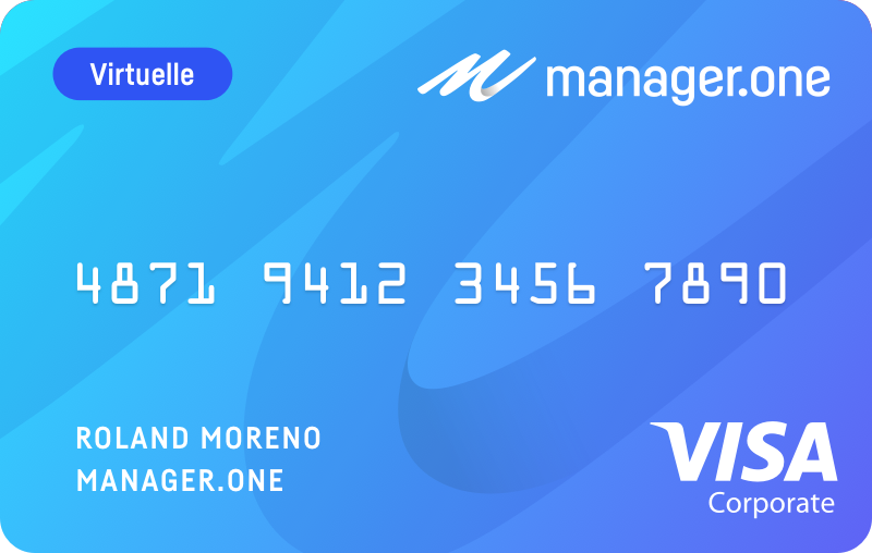 carte visa virtuelle manager.one
